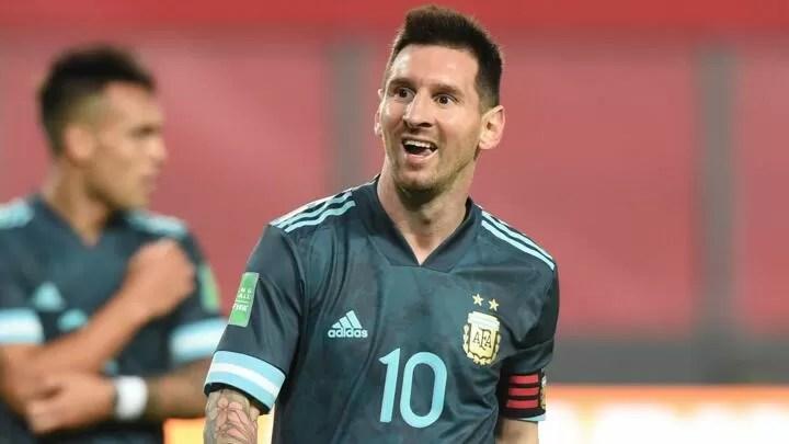 Lionel Messi's response after Argentina overcome Peru 2