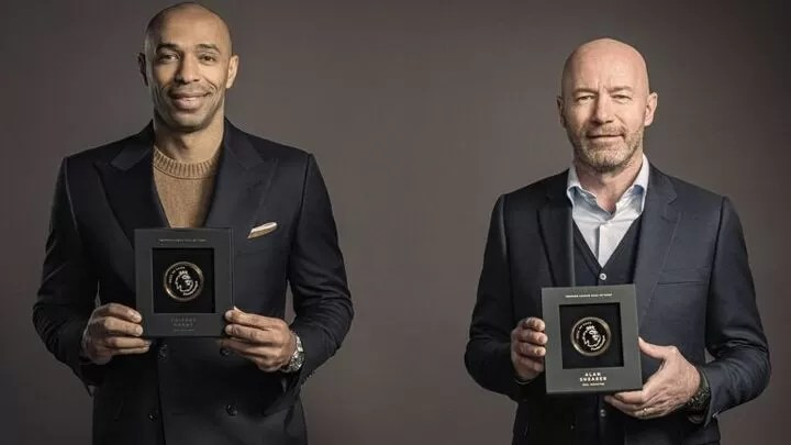 Alan Shearer & Thierry Henry, first inductees into Premier League Hall of Fame 2