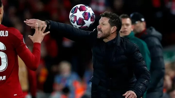 Simeone: Atletico were 2-0 down but scored 3 goals at Anfield & that's not luck 2