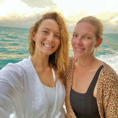 Ricki with her half sister,Jodie