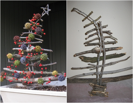 Sticks 10 Adorable DIY Wooden Christmas Tree Ideas