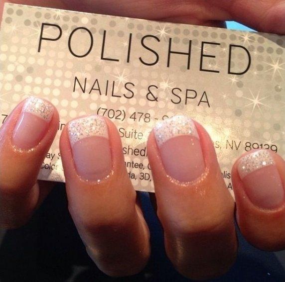 More Glitter Tips Via Nails