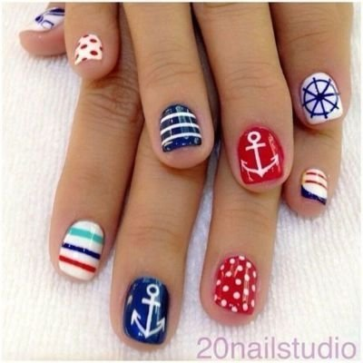 Cute Nautical Nail Art Designs 37 And Easy Diy For Beginners