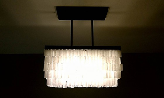 Faux Capiz Shell Chandelier 10 Insanely Cool DIY