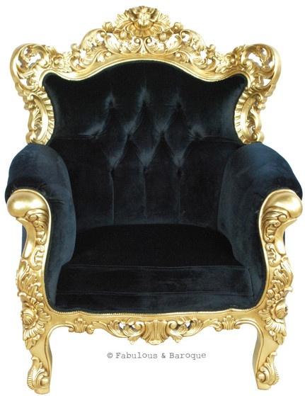 Belle De Fleur Gold Amp Black 7 Pieces Of Baroque Furniture