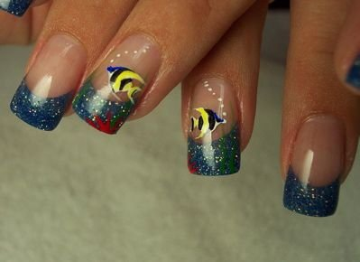 Angel Fish Via Fishes In Nail Art