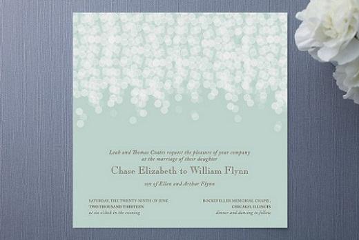 Mint Green Dark Gray Great Gatsby Inspired Wedding Invitations Mospens Studio
