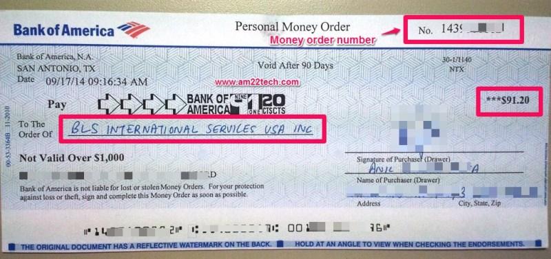 bank of america check sample