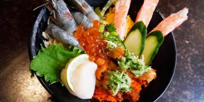 平價澎派生魚片丼我的愛。金山街人氣店家。築地鮮魚。新竹美食 園區 丼飯 鰻魚飯