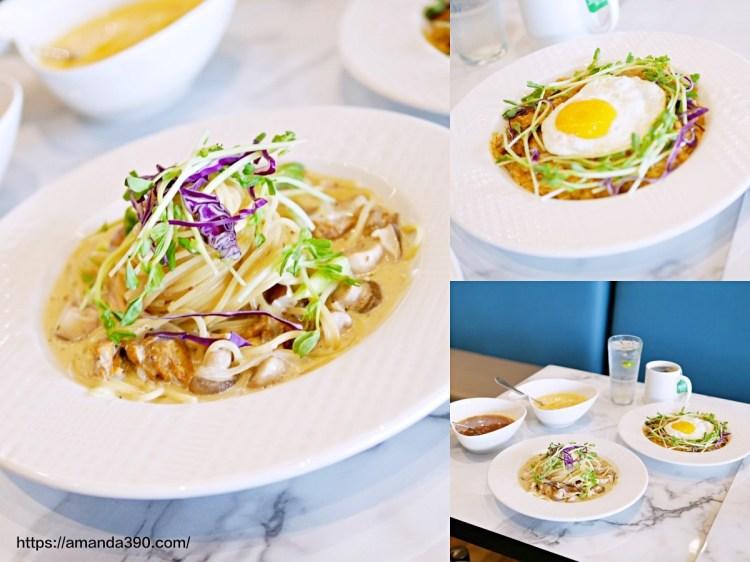 改裝後質感更升級的聚餐好選擇。莫凡彼咖啡館 Movenpick Café。台南美食|南紡購物中心|台南東區
