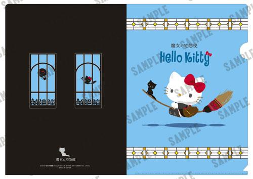 【画像】あみあみ新作フィギュア予約開始速報:魔女の宅急便×Hello Kitty クリアファイル ほうきver.