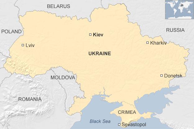 Χάρτης - θέση Κριμαίας