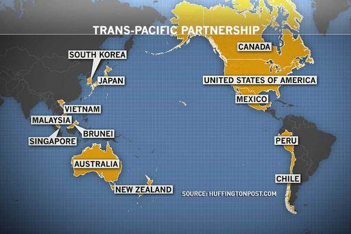 TPP - χώρες που εντάσσονται στο σχέδιο