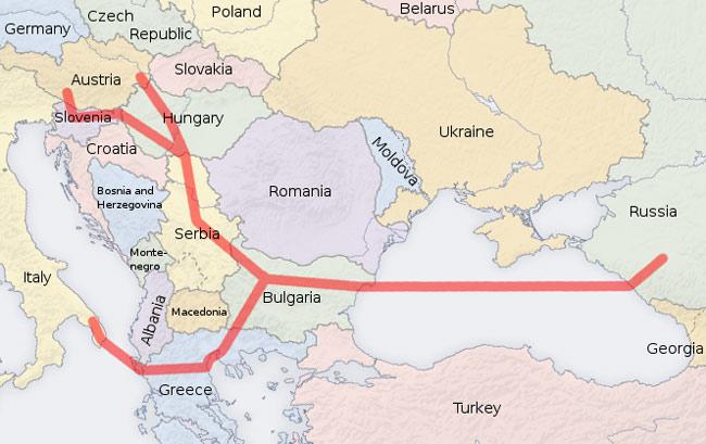 Ο υποθαλάσσιος αγωγός Ρωσίας-Βουλγαρίας