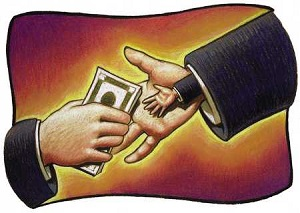 ICON - ελεημοσύνη, διαφθορά