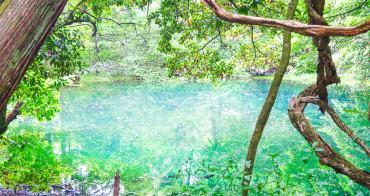 [山形景點]丸池樣-日本東北秘境!森林包圍的藍綠色夢幻池景