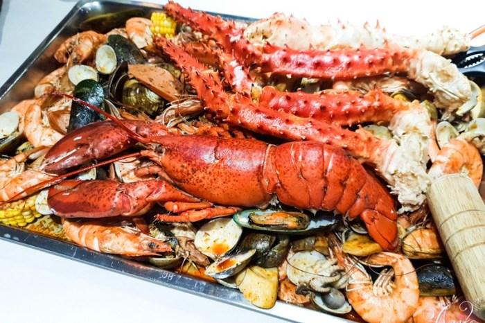 【台北美食】蝦老爹美食海鮮。國父紀念館美食~浮誇系澎湃海鮮!用手抓著吃最過癮