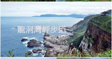 [新北市貢寮景點 龍洞灣岬步道] 穿越3500萬年的時空 走在巨大岩層上方 景色絕佳濱海步道