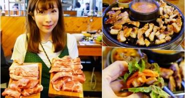【韓國】明洞美食 韓國烤肉吃到飽 ♥ 荒謬的生肉 超厚五花肉跟小菜吃到飽