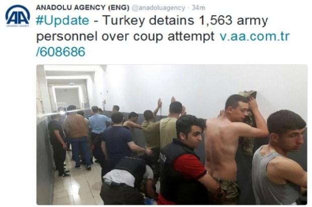 Turki Tangkap 2.839 Tentara yang Terlibat Kudeta