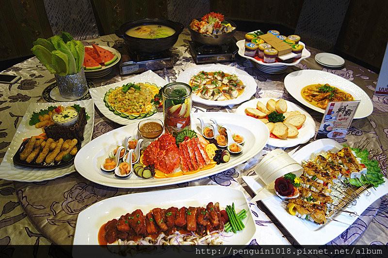 【台中豐原美食】宜豐園主題婚宴會館;10道餐廳菜裡有帝王蟹兩吃、慢火燉雞鍋、咖哩大草蝦等鮮美海鮮料理。