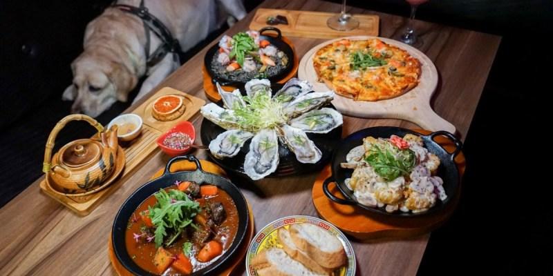 台中雙囍餐酒館 | 大紅色雙喜裝飾,宵夜場放鬆小酌,中式風搭配西洋風特色美食搭配,獨樹一格特色餐酒館。