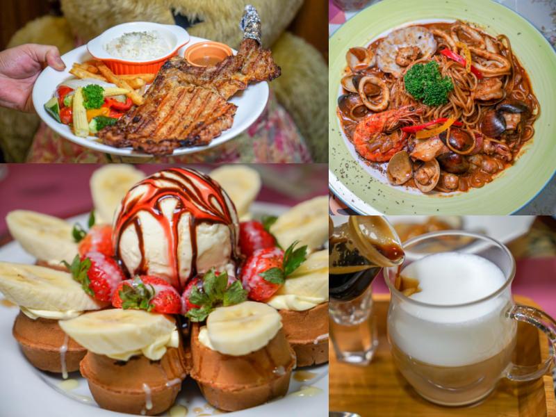 員林美食COCO鬆餅屋 | 最新戰斧豬排排餐、超人氣鬆餅下午茶,員林在地老字號咖啡館。