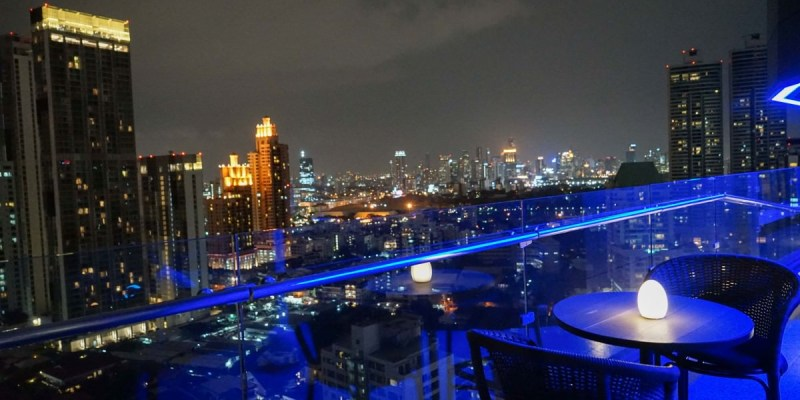 AIRE BAR   泰國曼谷BTS澎蓬站高空酒吧推薦!曼谷180度夜景欣賞,氣氛寧靜浪漫。