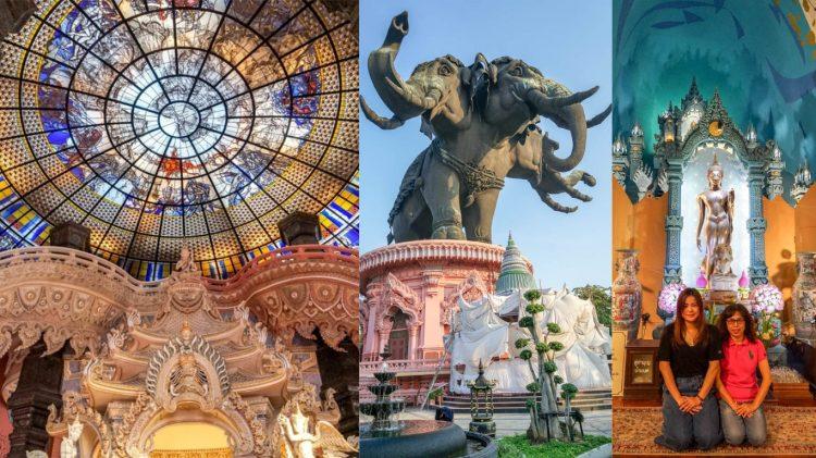 曼谷三頭象神博物館The Erawan Museum | 泰國曼谷必訪震撼力十足巨形象神,粉色跟水藍寺內適合網美打卡。