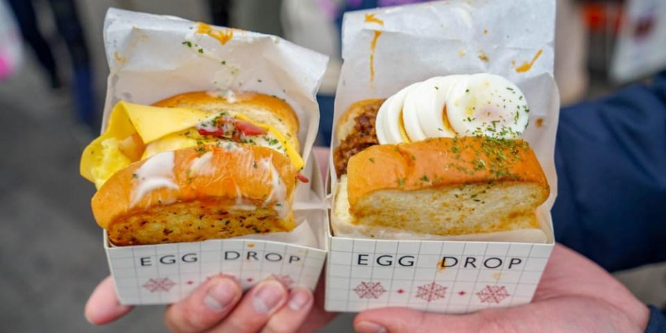 EGG DROP弘大店 | 韓國首爾弘大入口,韓式早餐選擇,旅韓必吃歐姆蛋三明治。