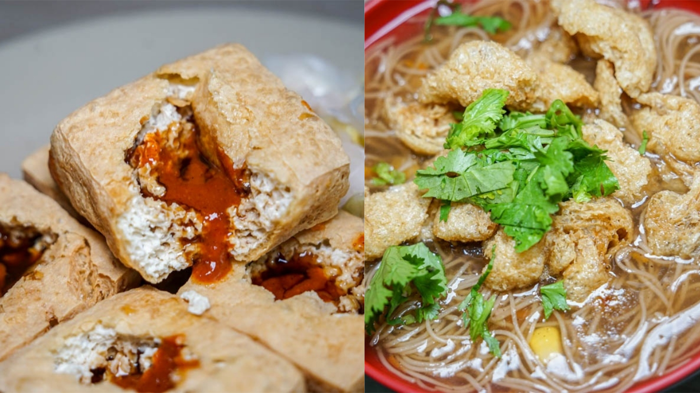 竹山溫臭豆腐 | 酥脆臭豆腐、好吃素當歸麵線,竹山素食小吃推薦。