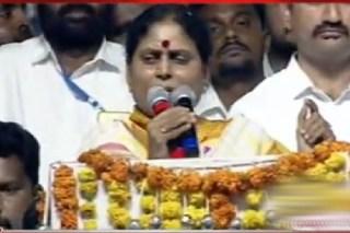 YS Vijayamma speech in Khammam