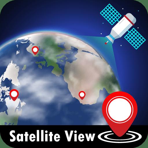 GPS satellite view maps, live traffic & navigation 1.0.20 icon
