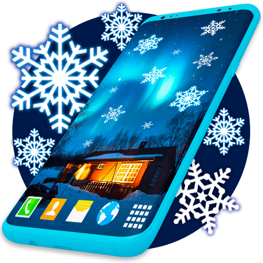Winter Live Wallpaper ❄️ Frozen Snow Wallpapers 6.7.3 icon