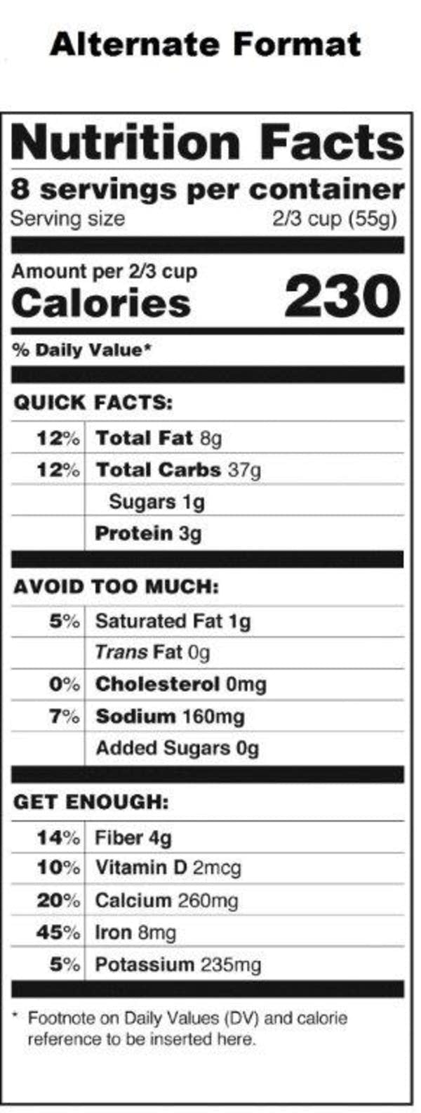 Blank Nutrition Label Template - FREE DOWNLOAD