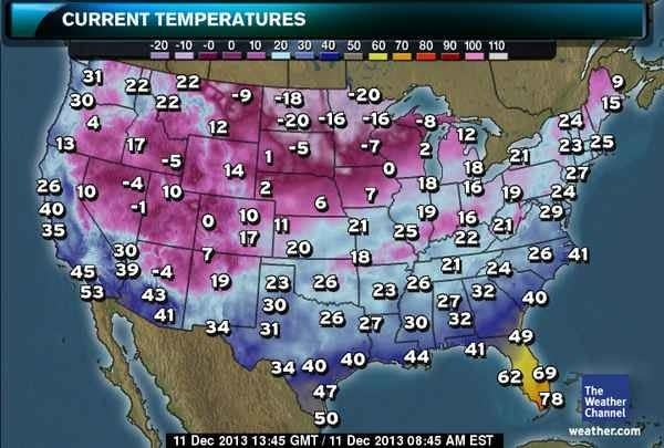 9 30 Coffee Break  Cold   The Current cold weather map
