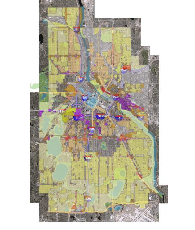 Taller  greener  more equitable  Minneapolis releases first draft of     Minneapolis  current zoning map