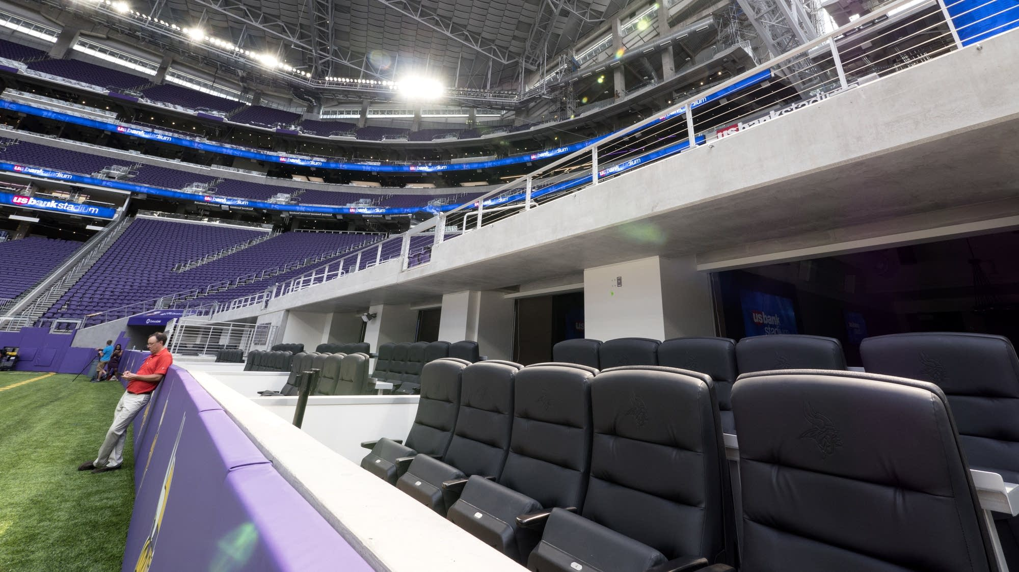 Photos The New Stadium Says The Vikings Are Coming MPR News