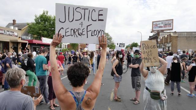 Protesters rally to call for justice for man who died in Mpls. police in protest for George Floyd ( Via NPR News)