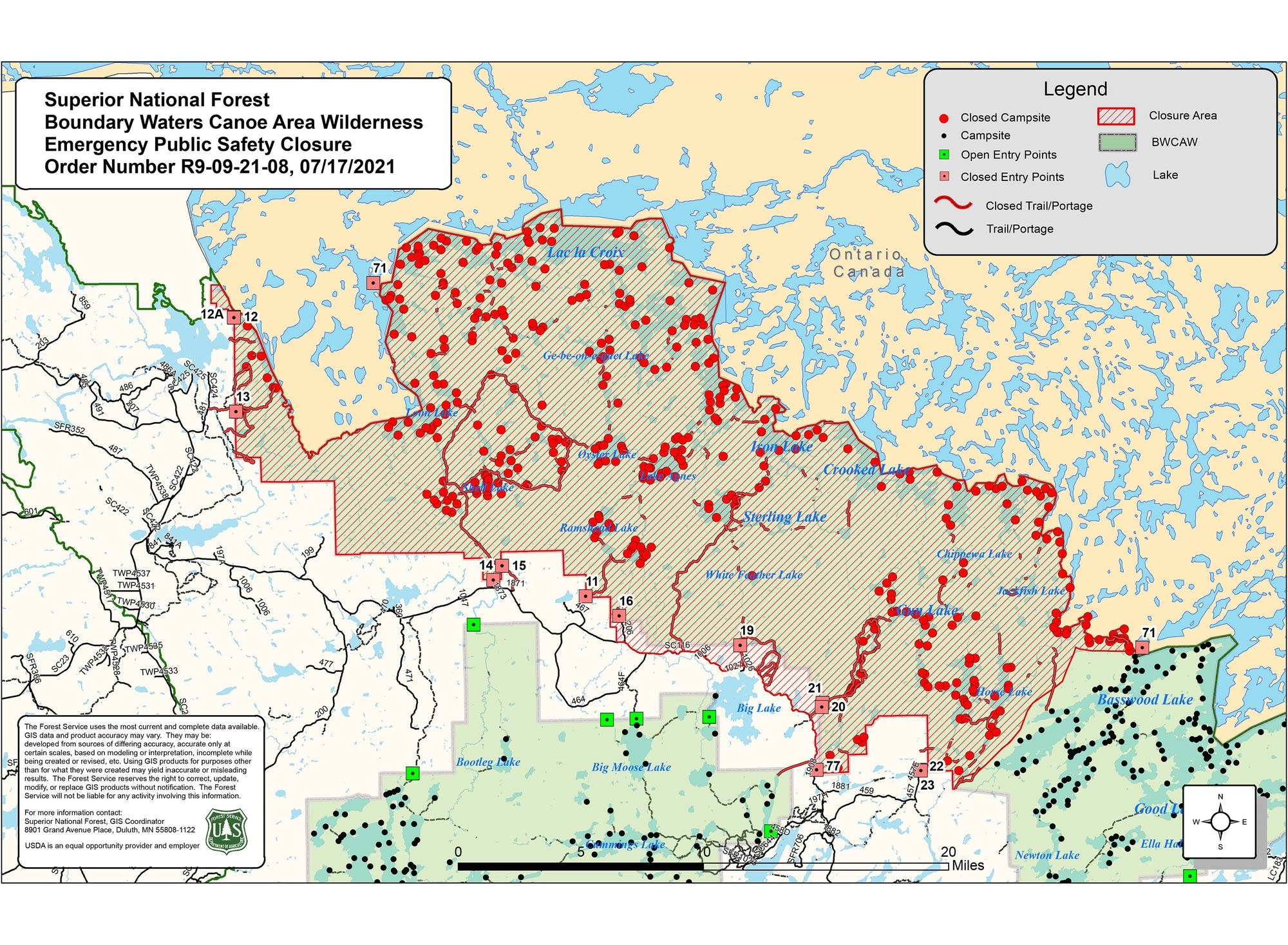 In june 2021, a potent heat wave sent temperatures soaring above 115°f (46°c) on multiple days. Forest Service Expands Boundary Waters Closure North Of Ely Amid Growing Wildfire Concerns Mpr News