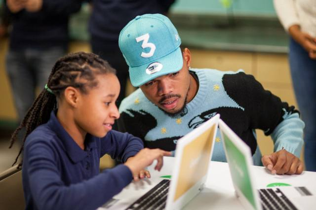 Chance the Rapper helps support computer education in Chicago schools