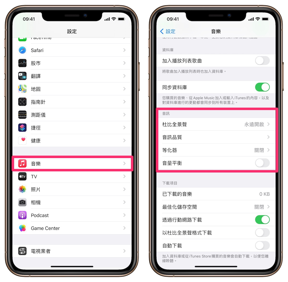 Apple Music Hi-Fi設定
