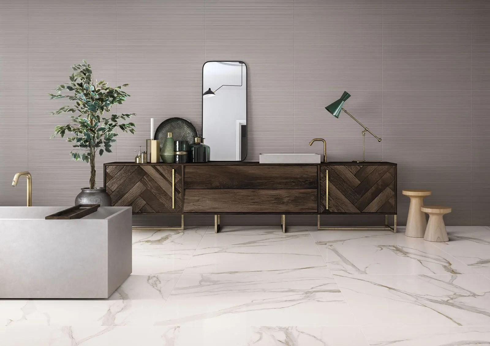 indoor tile elements lux calacatta