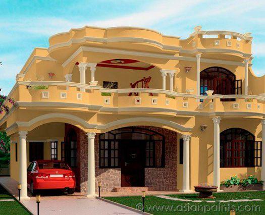 Asian paints apex exterior colour shades home painting - Asian paints colour shades for exterior plan ...