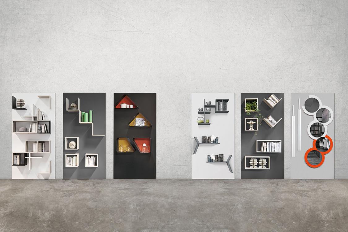Modular shelf - MAGNETIKA ELEMENTS - Ronda Design - wall-mounted