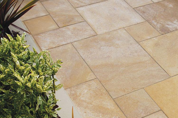outdoor tile golden buff classical