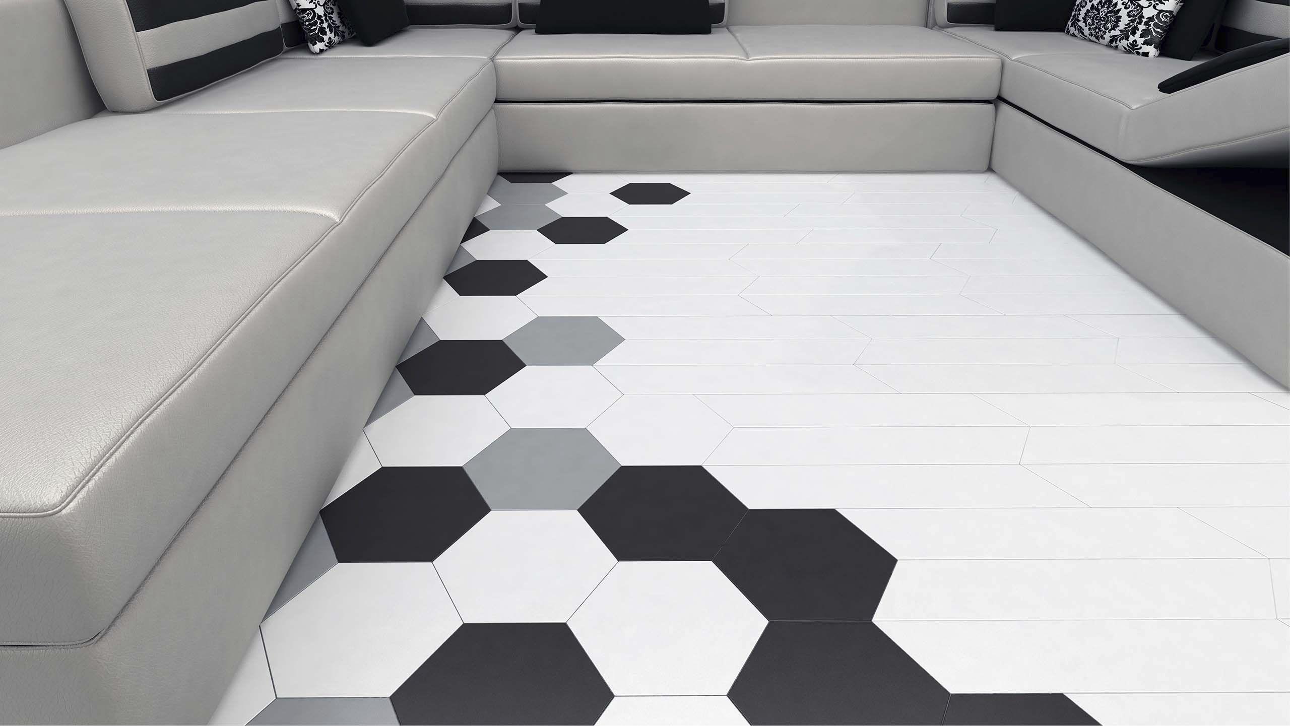 indoor tile hexa floor wow design