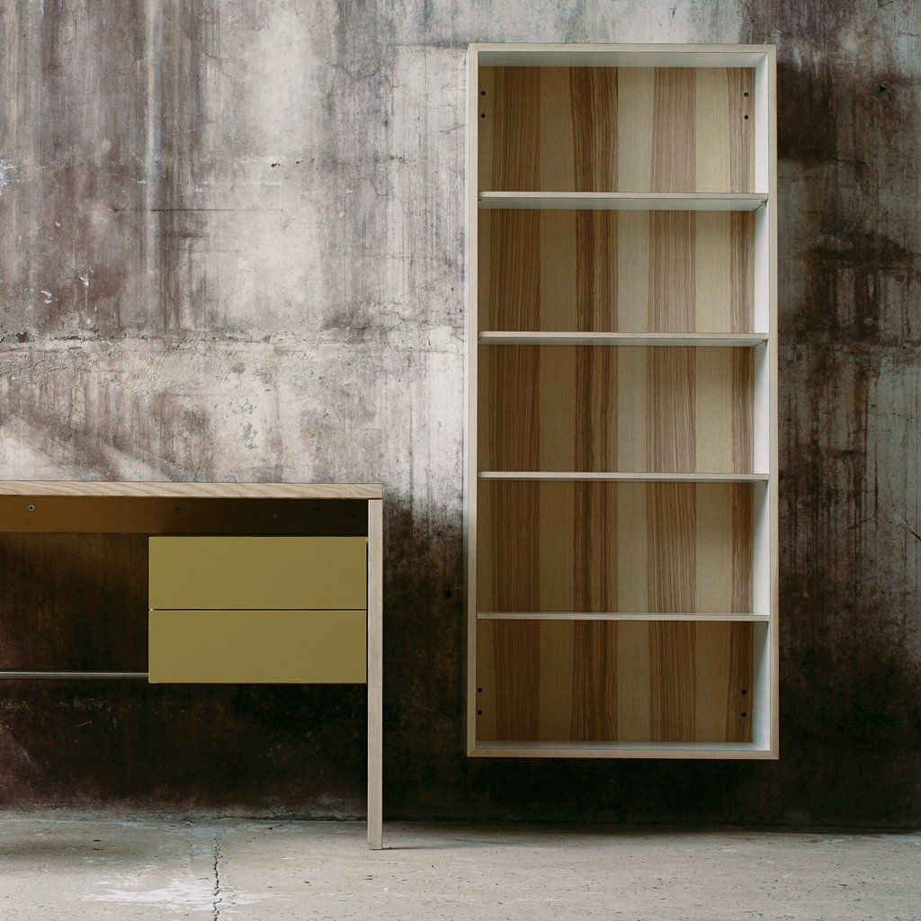 M7000 Wall Mounted Bookcase Contemporary Oak Walnut By Mint Furniture Archiexpo