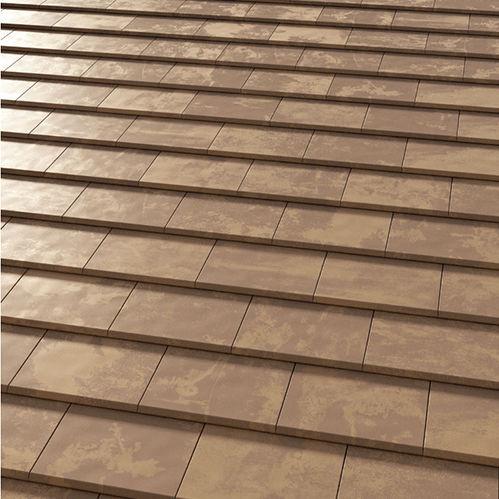 flat roof tile tokyo copper tejas