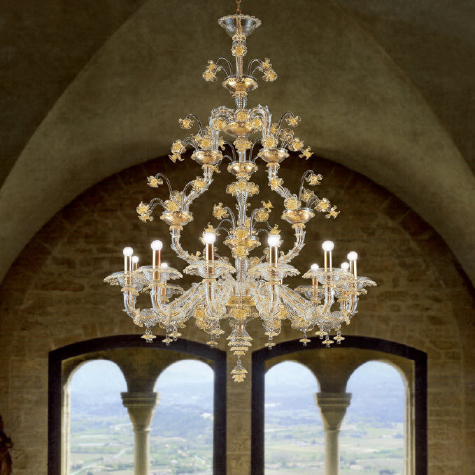 Per te tante scelte e colori! Traditional Chandelier Ca Rezzonico La Murrina Murano Glass Blown Glass Commercial